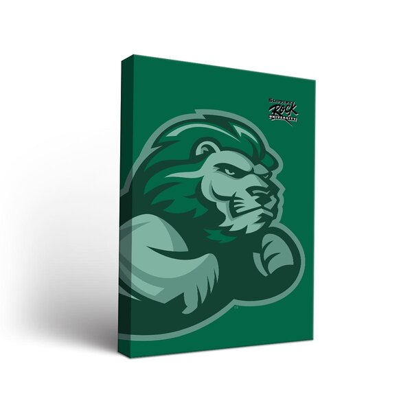Slippery Rock The Rock Watermark Design Framed Graphic Art on Wrapped Canvas by Victory Tailgate