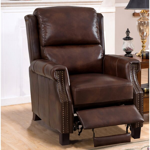Adler Leather Manual Recliner by Darby Home Co