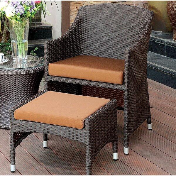 Wortham Patio Chair with Cushion by Bay Isle Home