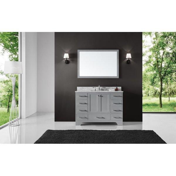 Cassel 48 Single Bathroom Vanity Set with Mirror by Highland Dunes