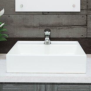 Quickview Decolav Clically Redefined Aurelia Ceramic Square Vessel Bathroom Sink