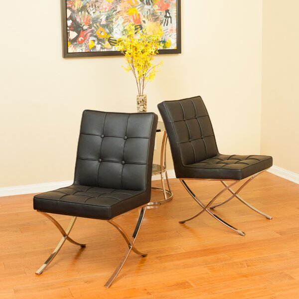 Somerville Upholstered Dining Chair (Set of 2) by Orren Ellis