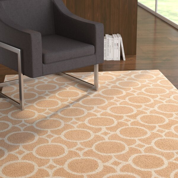 Murrow Hand-Tufted Antique Pink/Beige Area Rug by Ebern Designs