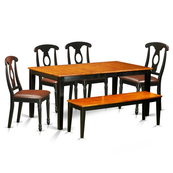 Pillar 6 Piece Wood Dining Set by August Grove