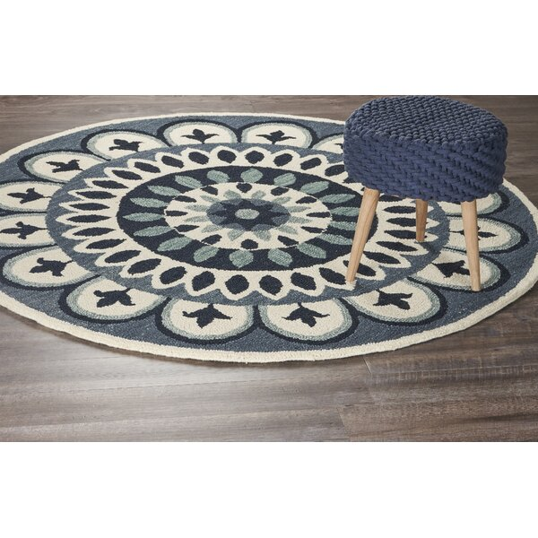 Owensboro Hand-Tufted Navy Area Rug by Darby Home Co