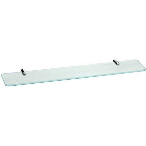 Soloman Wall Mounted Glass Shelf by Orren Ellis