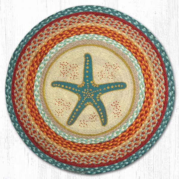 Star Fish Printed Area Rug by Earth Rugs