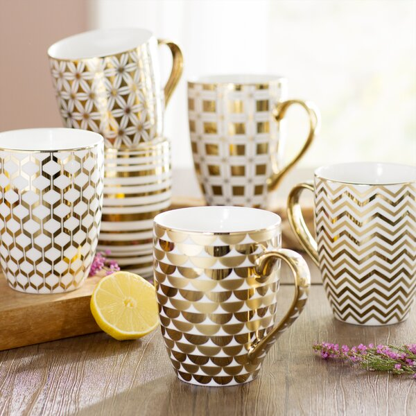 Blayze 6 Piece Tapered Coffee Mug Set by Willa Arlo Interiors