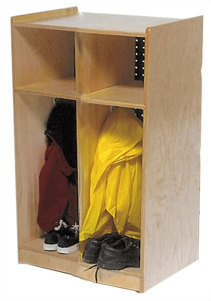 2 Tier 2 Wide Coat Locker by Angeles