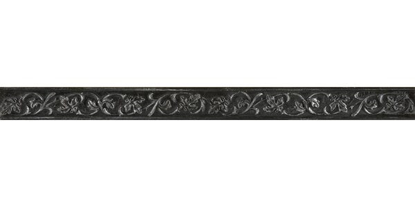Camelot 1 x 12 Metal Liner Tile in Iron by Emser Tile