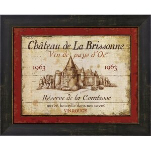 French Wine Labels I by Daphne Brissonnet Framed Vintage Advertisement by Evive Designs