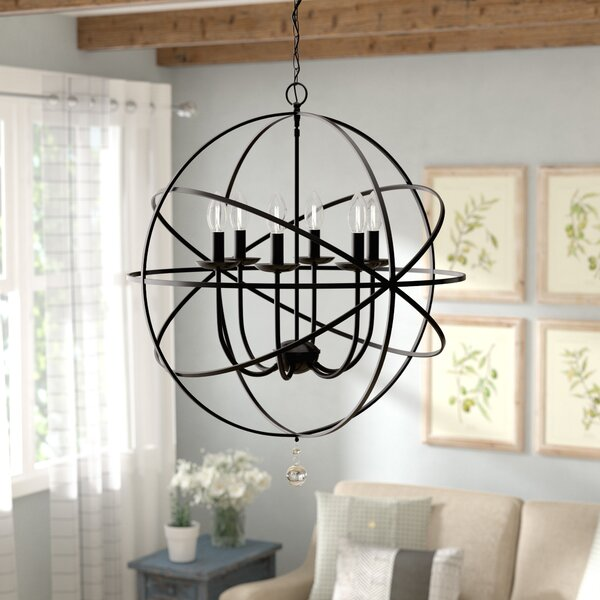 Eastbourne 6 - Light Unique / Statement Globe Chandelier By Gracie Oaks