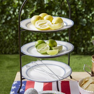 Hardin 3 Tier Dinner Plate Rack Tiered Stand : tier plate rack - pezcame.com