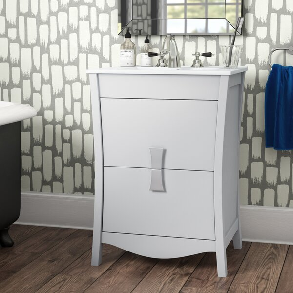 Cataldo Wood Glazed Floor Mount 24 Single Bathroom Vanity Set by Royal Purple Bath Kitchen