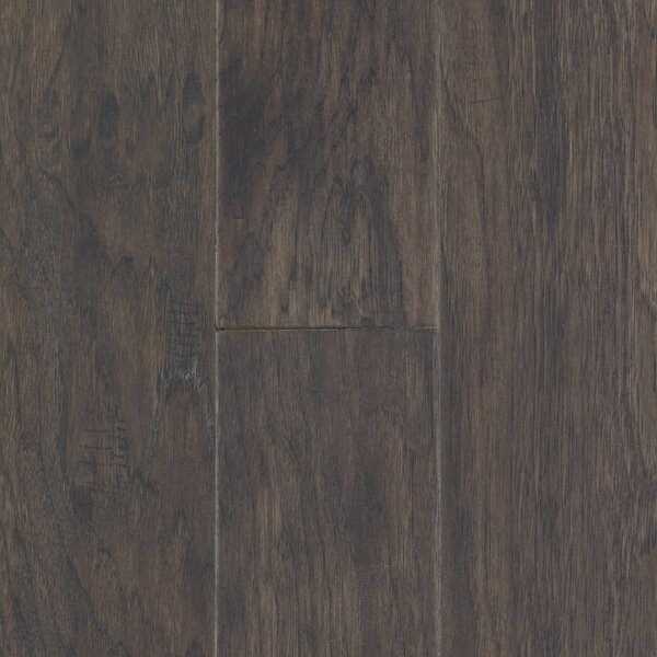 Pioneer Harbor 5 Engineered Hickory Hardwood Flooring in Low Glossy Gray by Mohawk Flooring