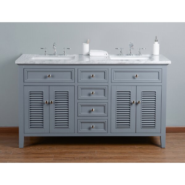 Richards 60 Double Bathroom Vanity Set by Beachcrest Home