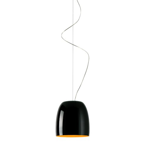 1 - Light Dome LED Pendant Prandina srl Shade Colour: Black/