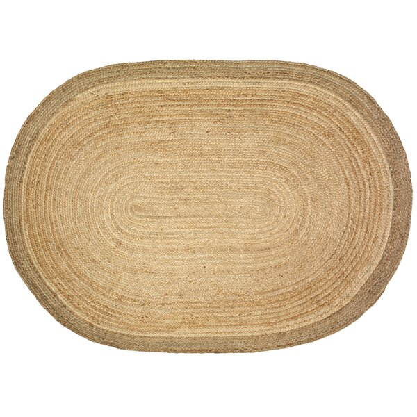 Millwood Jute Natural Area Rug by Rosecliff Heights