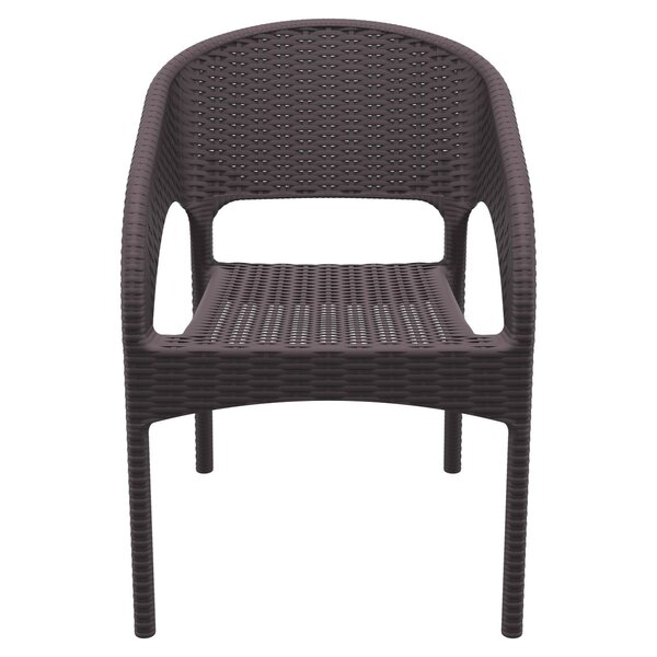 Eliza Stacking Patio Dining Chair (Set of 2) by Ba