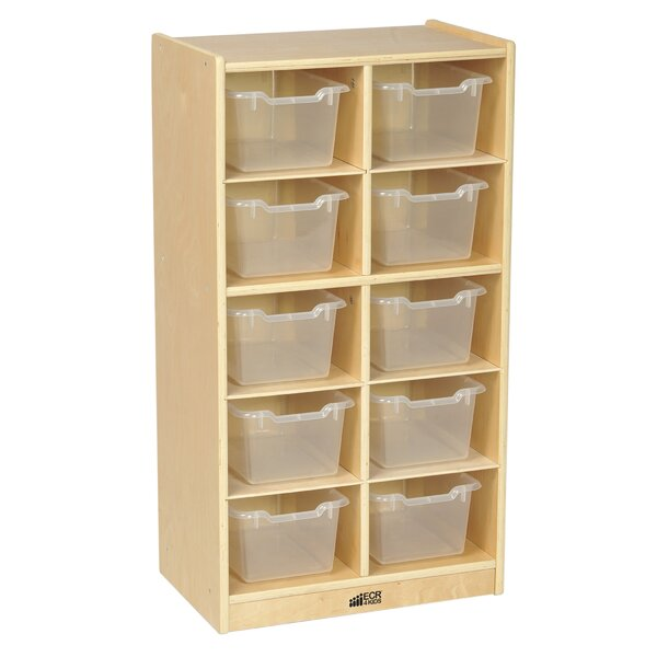 10 Compartment Cubby with Bins by ECR4kids