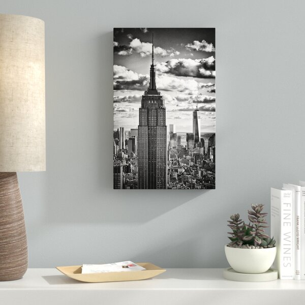 New York Skyscrapers Photographic Print on Wrapped Canvas by Latitude Run