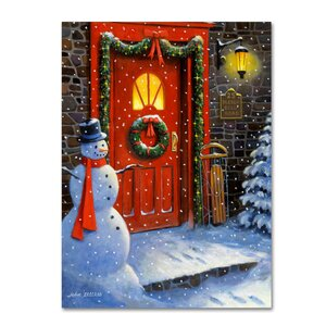 '25 Sleigh Bell Road' Print on Wrapped Canvas by Trademark Fine Art