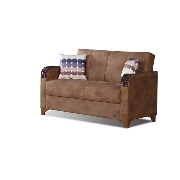 Meaney Leather Loveseat by Latitude Run