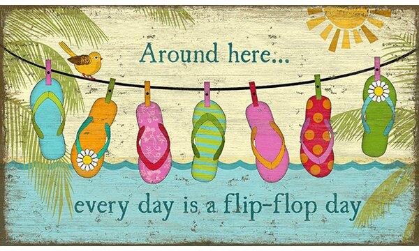 Hanging Flops by Suzanne Nicoll Graphic Art Plaque by Highland Dunes