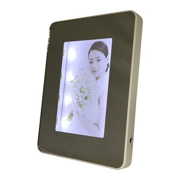Kadin Rectangular Lighted Mirrored Picture Frame by Orren Ellis