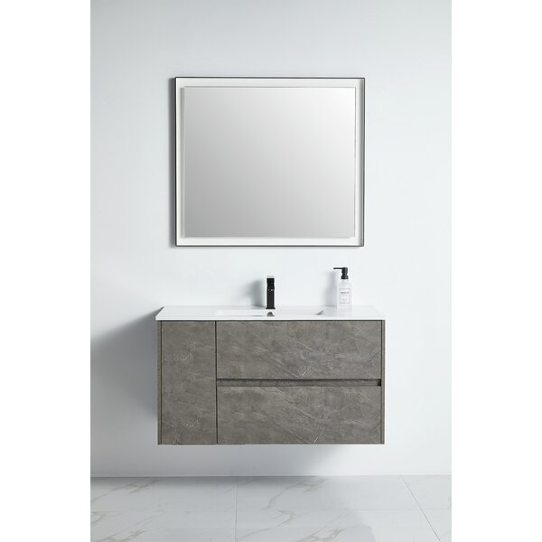 Cobie 39 Wall-Mounted Single Bathroom Vanity Set with Mirror