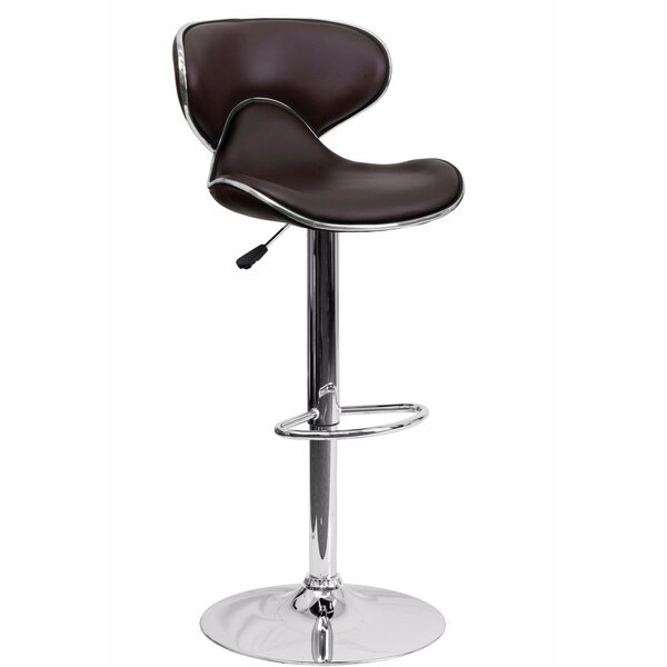 Connor Adjustable Height Swivel Bar Stool by Orren Ellis