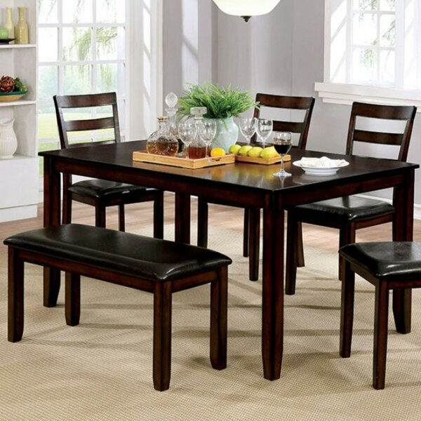 Dinius Wooden 6 Piece Dining Set by Red Barrel Studio
