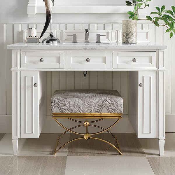 Dussault 48 Single Cottage White Bathroom Vanity Set by Darby Home Co