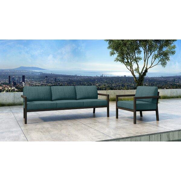 Iliana 2 Piece Sofa Seating Group With Sunbrella Cushions By 17 Stories
