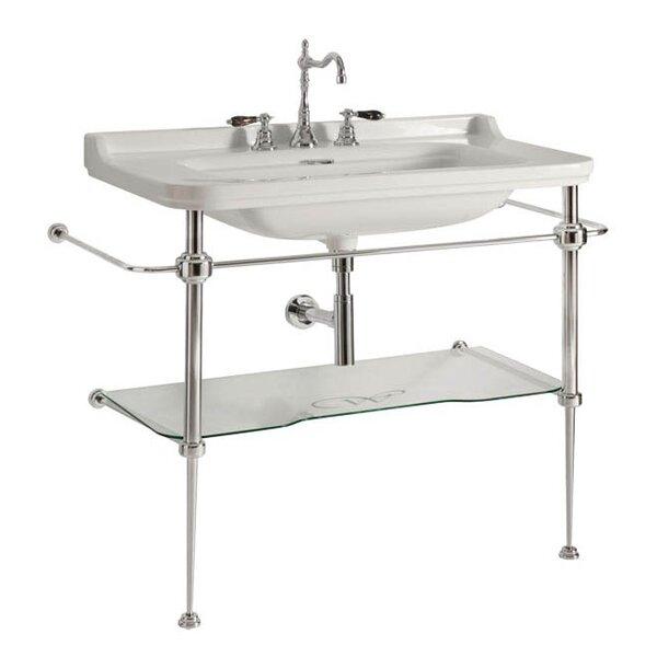 Waldorf Ceramic 40 Console Bathroom Sink with Overflow