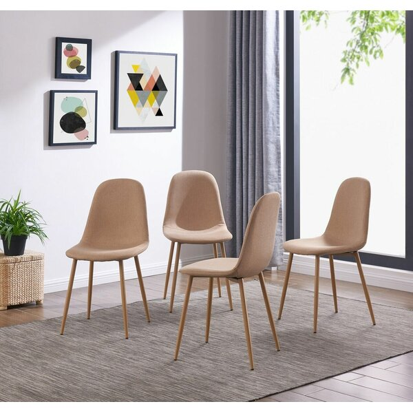 Mickel Elegant Upholstered Dining Chair (Set of 4) by Wrought Studio