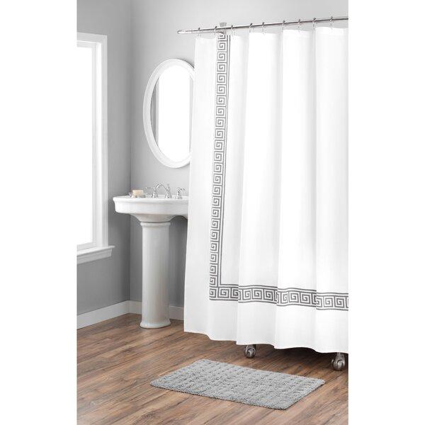 Greek Key Cotton Shower Curtain by Nicole Miller