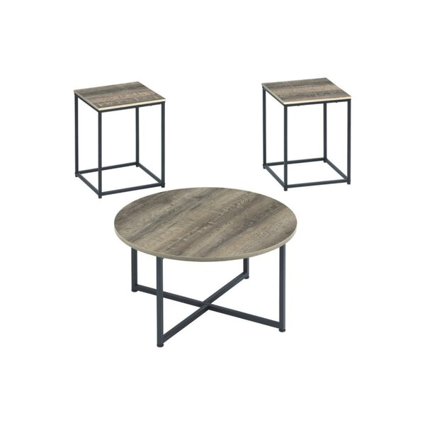 Riggs 3 Piece Coffee Table Set by Williston Forge
