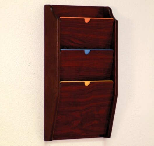 Three Pocket HIPPAA Compliant Chart Holder by Wooden Mallet