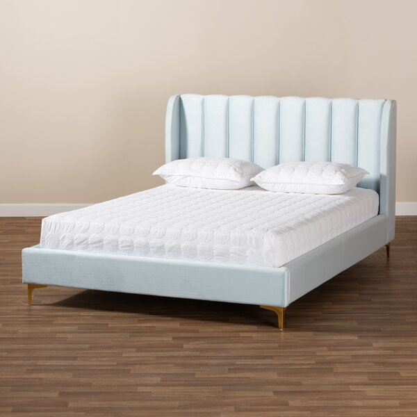Saverio Glam and Luxe Upholstered Platform Bed by Wholesale Interiors
