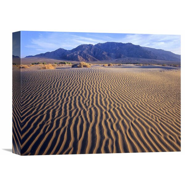 Nature Photographs Tucki Mountain and Mesquite Flat Sand Dunes, Death Valley National Park, California Photographic Print on Wrapped Canvas by Global Gallery