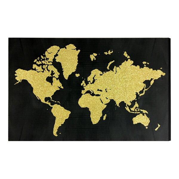 Gold Glitter Wall Art | Wayfair