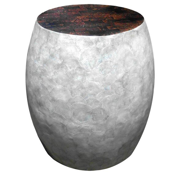 Capiz Sea Crest Shell Stool by D-Art Collection