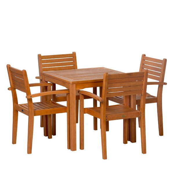 Giesler Eucalyptus Square 5 Piece Dining Set By August Grove®