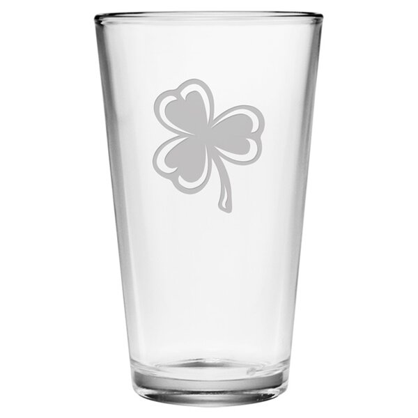 Classic Shamrock 16 oz. Pint Glass (Set of 4) by Susquehanna Glass