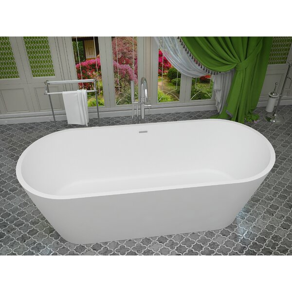 Rossetto 66.8 x 27.75 Freestanding Soaking Bathtub by ANZZI