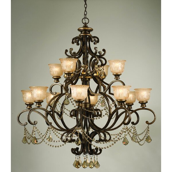 Tusten 12-Light Shaded Empire Chandelier by Astoria Grand Astoria Grand