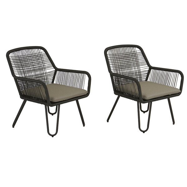 Marli Patio Chair with Cushions (Set of 2) by Novogratz