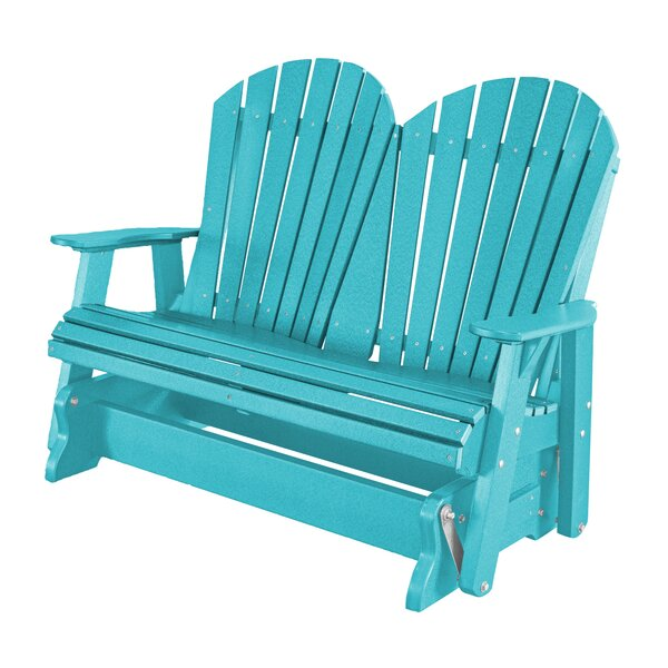 Patricia Plastic/Resin Gliding Adirondack Chair by Rosecliff Heights