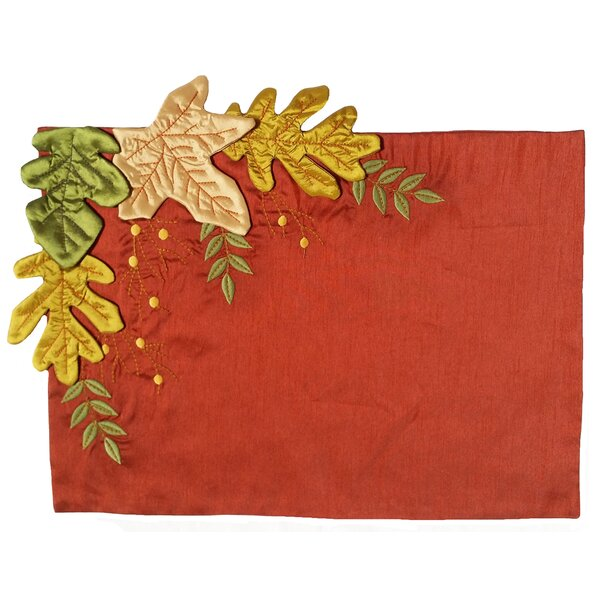 Leaves Applique with Emboridery Placemat by Xia Home Fashions